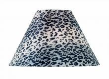 "Lite Source Inc. CH1191-18 - Leopard Printed Fabric Shade - 7""Tx18""Bx12""Sl"