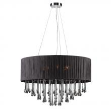 PLC Lighting 73056 BLACK - 6 Light Chandelier Rain Collection