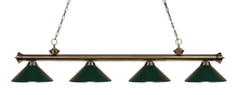 Z-Lite 200-4AB-MDG - 4 Light Billiard Light