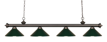 Z-Lite 200-4OB-MDG - 4 Light Billiard Light