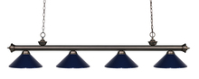 Z-Lite 200-4OB-MNB - 4 Light Billiard Light