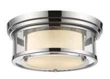 Z-Lite 2005F13-CH - 2 Light Flush Mount