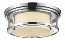 Z-Lite 2005F18-CH - 3 Light Flush Mount