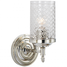 Visual Comfort AH 2201PN-CG - Lita Single Sconce in Polished Nickel with Cryst