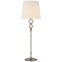 Visual Comfort ARN 3022BSL-L - Bristol Table Lamp in Burnished Silver Leaf with