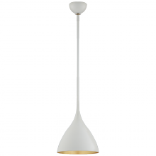 Visual Comfort ARN 5350PW - Agnes Small Pendant in Plaster White with Gild I
