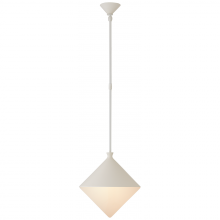 Visual Comfort ARN 5355WHT-WG - Sarnen Small Pendant in Matte White with White G