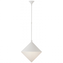 Visual Comfort ARN 5357WHT-WG - Sarnen Large Pendant in Matte White with White G
