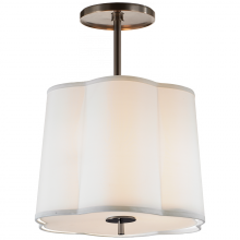 Visual Comfort BBL 5016BZ-S - Simple Scallop Hanging Shade in Bronze with Silk