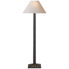 Visual Comfort CHA 8463AI-NP - Strie Buffet Lamp in Aged Iron with Natural Pape