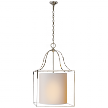 Visual Comfort CHC 2167PN-NP - Gustavian Lantern in Polished Nickel with Natura
