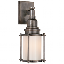 Visual Comfort CHD 2050BZ-WG - Stanway Sconce in Bronze with White Glass