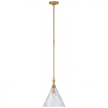 Visual Comfort KS 5305SB-CG - Darcy Medium Pendant in Soft Brass with Crystal