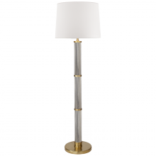 Visual Comfort RL 1080NB-WP - Allen Floor Lamp in Natural Brass and Glass Rods