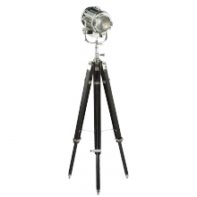 Visual Comfort RL11180EBO - Montauk Search Light Floor Lamp in Ebony and Pol