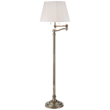 Visual Comfort RL12128BS-S - Sargent Swing Arm Floor Lamp in Butler's Sil