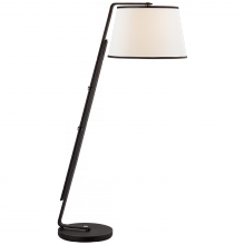 Visual Comfort RL 1477CHOC-L - Devin Floor Lamp in Chocolate Leather with Linen