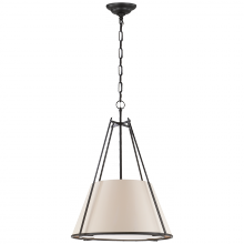 Visual Comfort S 5033BR-NP - Aspen Large Conical Hanging Shade in Black Rust