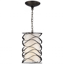 Visual Comfort S 5045AI-L - Bracelet Small Lantern in Aged Iron with Linen S
