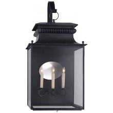 Visual Comfort SK 2356BC - Honore Large Bracketed Wall Lantern in Blackened