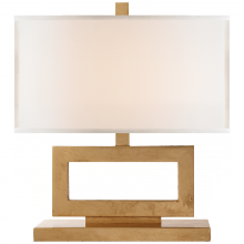 Visual Comfort SK 3207G-L - Mod Low Table Lamp in Gild with Linen Shade
