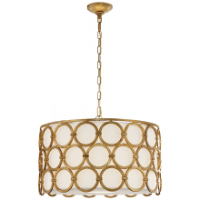 Visual Comfort SK 5536GI-L - Alexandra Medium Hanging Shade in Gilded Iron wi