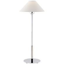 Visual Comfort SP 3022PN-NP - Hackney Table Lamp in Polished Nickel with Natur