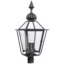 Visual Comfort SP 7071BC - Audley Medium Post Lantern in Blackened Copper w