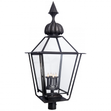 Visual Comfort SP 7072BC - Audley Large Post Lantern in Blackened Copper wi