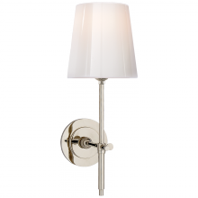 Visual Comfort TOB 2022PN-WG - Bryant Sconce in Polished Nickel with White Glas