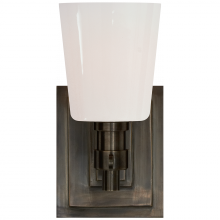 Visual Comfort TOB 2152BZ-WG - Bryant Single Bath Sconce in Bronze with White G