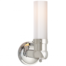 Visual Comfort TOB 2187PN-WG - Graydon Single Bath Light in Polished Nickel wit