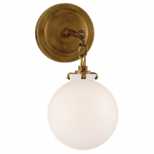 Visual Comfort TOB 2225HAB/G4-WG - Katie Small Globe Sconce in Hand-Rubbed Antique