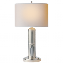 Visual Comfort TOB 3000PN-NP - Longacre Small Table Lamp in Polished Nickel wit
