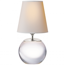 Visual Comfort TOB 3014CG-NP - Terri Round Accent Lamp in Crystal with Natural