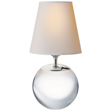 Visual Comfort TOB 3023CG-NP - Terri Large Round Table Lamp in Crystal with Nat