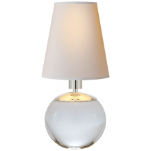 Visual Comfort TOB 3051CG-NP - Terri Tiny Round Accent Lamp in Crystal with Nat