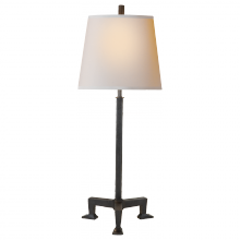 Visual Comfort TOB 3152AI-NP - Parish Buffet Lamp in Aged Iron with Natural Pap