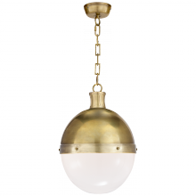 Visual Comfort TOB 5063HAB-WG - Hicks Large Pendant in Hand-Rubbed Antique Brass