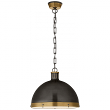 Visual Comfort TOB 5071BZ/HAB - Hicks Extra Large Pendant in Bronze and Hand-Rub