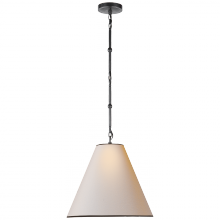 Visual Comfort TOB 5090BZ-NP/BT - Goodman Small Hanging Light in Bronze with Natur