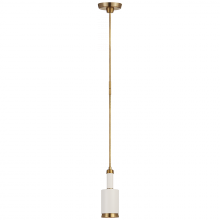 Visual Comfort TOB 5097HAB/WHT - Anders Small Cylindrical Pendant in Hand-Rubbed
