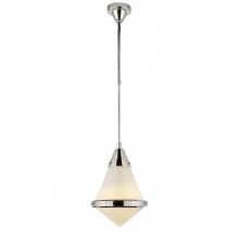 Visual Comfort TOB 5155PN-WG - Gale Small Pendant in Polished Nickel with White