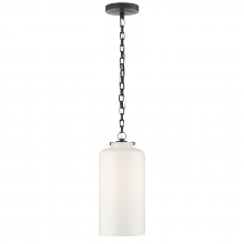Visual Comfort TOB 5226BZ/G3-WG - Katie Cylinder Pendant in Bronze with White Glas