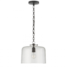 Visual Comfort TOB 5226BZ/G5-SG - Katie Dome Pendant in Bronze with Seeded Glass