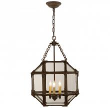 Visual Comfort SK 5008AZ-CG - Morris Small Lantern in Antique Zinc with Clear
