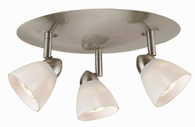 "CAL Lighting SL-954-3R-BS/WH - 5.38"" Inch Metal Serpentine Three Light Orbit Ceiling Fixture"