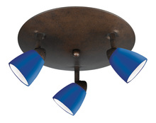 "CAL Lighting SL-954-3R-RU/BL - 5.38"" Inch Metal Serpentine Three Light Orbit Ceiling Fixture"